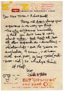 John Lennon letter to Tilston